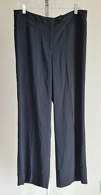 Adrianna Papell Womens 12 Dress Pants Black Wide Leg Sheer Unlined Career 32 IN