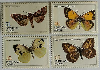 122. Portugal 1984 Set/4  Stamp Butterfly, Moths, Insects. Mnh