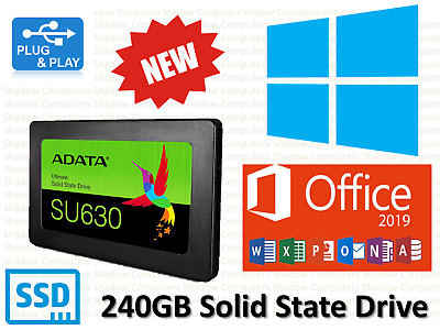 240GB SSD SATA 2.5 Laptop Hard Drive Pre installed with Windows 10 & Office 2019