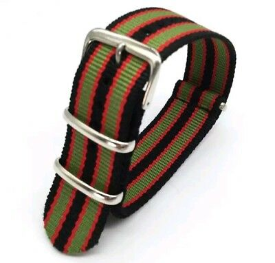 True James Bond 007 military army nylon NATO watch strap 20  UK