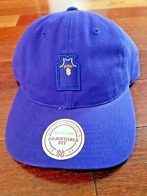 a11e28bb91b0b Mitchell and Ness Lakers Kobe Bryan Dad Hat Cap Adjustable Strap OSFM