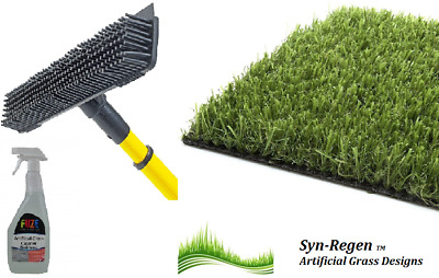 Artificial Grass Brush And Cleaner Fluid Removes Pet Smells Cleans And Restores