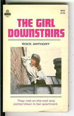 THE GIRL DOWNSTAIRS by Rock Anthony, rare US Midwood sleaze gga pulp vintage pb