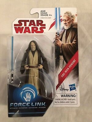 "Star Wars The Last Jedi Obi-wan Kenobi Force Link 3.75"" Action Figure"