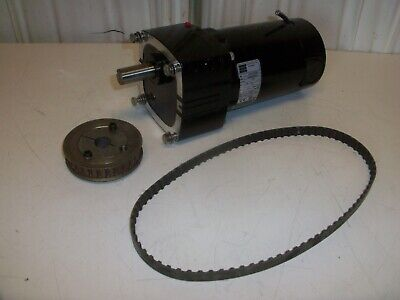 BODINE Gearmotor 42A5BEPM-E2 1/4hp with pulley and belt