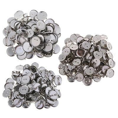 100pcs Badges/Brooch Blanks Tray Findings - with resin to DIY creative