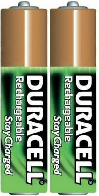 "Bulk pack of 2 Duracell DX2400 AAA 800mAh ""Stay Charged"" Rechargeable Batteries"
