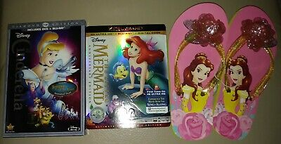 Little Mermaid Anniversary 4K HD Cinderella Tangled Diamond Bluray Belle Sandals
