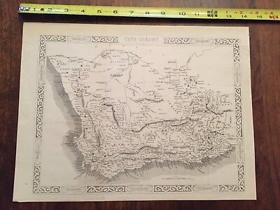 1860 genuine antique map of the Cape Colony South Africa
