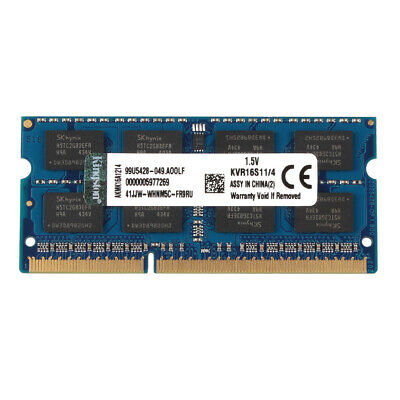 For Kingston 4GB 2RX8 PC3-12800S DDR3 1600MHz Intel Laptop RAM Memory SO-DIMM