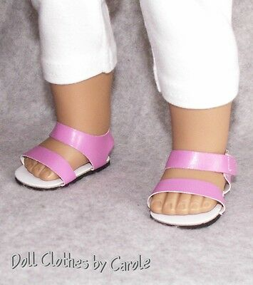 """Pink Strappy Summer Sandals fit 18"""" American Girl Size Doll - Shoes"""