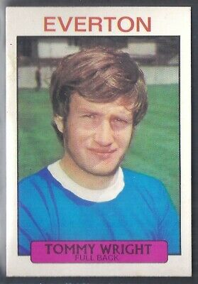 EVERTON A/&BC-FOOTBALL 1971 PURPLE BACK DYK-#202 TOMMY WRIGHT