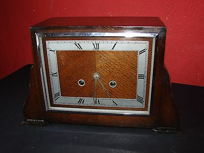 Bentima Striking Mantle Clock with Pendulum & Key Excellent Working Order