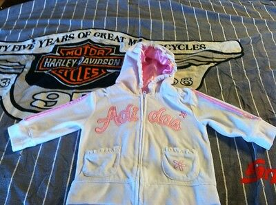 Adidas girls 18M pink  Jacket With Logo  Hoodie zip up very cute