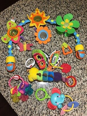 Lot Of Baby Tomy Lamaze Rattle Toy Tiny Love Stroller Arch NUBY Icybite Teether