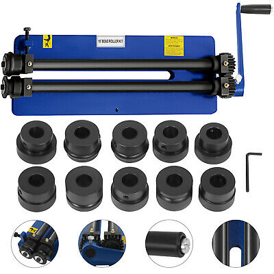 """18"""" Bead Roller Former Swager Rotary Swaging Machine 6 Die Sets Flexible Safe"""
