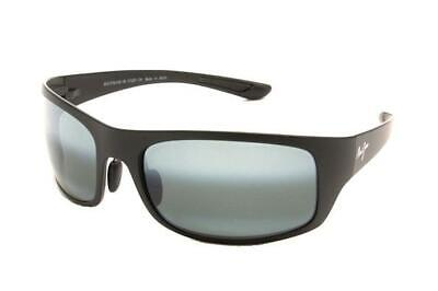 cd1fbaf42fcdd NEW Genuine Maui Jim Big Wave 440-2M Black Matte Mens Womens Sunglasses  Glasses