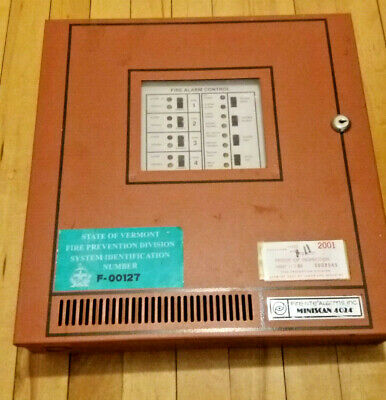 Fire-Lite Miniscan MS-4024 Fire Alarm Control Panel with Housing & Instructions
