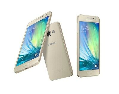 Samsung Galaxy A3 in Gold Handy Dummy Attrappe - Requisit, Deko, Werbung, Muster