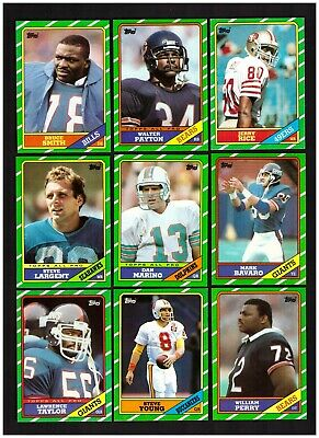 Pick & Complete Your 1986 TOPPS FOOTBALL TEAM SET - 396 Cards Available Pictured