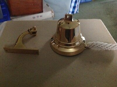 "Solid Brass Ships Bell 4"" Nautical Maritime Wall Golden Polished Finish"