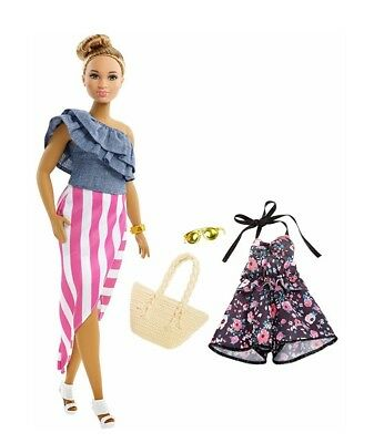 NEW  MATTEL BARBIE Fashionistas Doll AA CHAMBRAY CLOTHES FASHION PACK SET