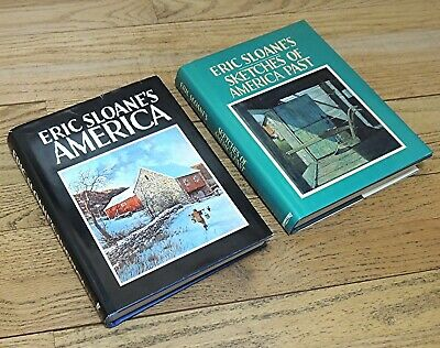 ERIC SLOANE HARDCOVER BOOK LOT-AMERICA & SKETCHES of AMERICA PAST