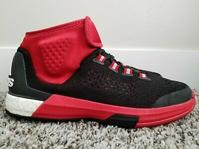 sports shoes bee3a a4f3b ADIDAS CrazyLight Boost Black Red Primeknit Basketball Shoes Men s 10.5