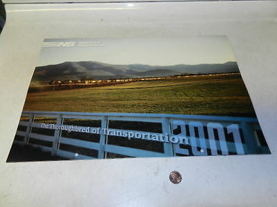 NORFOLK SOUTHERN RAILROAD 2001 Calendar, new, never used!