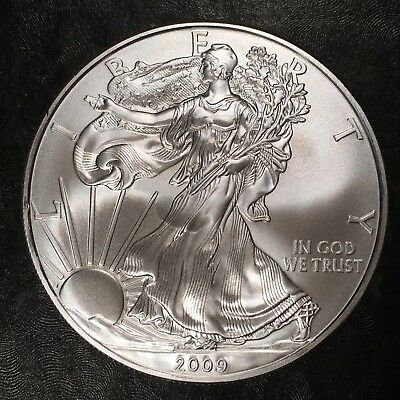2009 Uncirculated American Silver Eagle US Mint Issue 1oz Pure Silver #H478