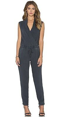 303a98d31fa5 Cloth   Stone Anthropologie Bella Dahl Mignon Cross Front Obsideon Jumpsuit  XS