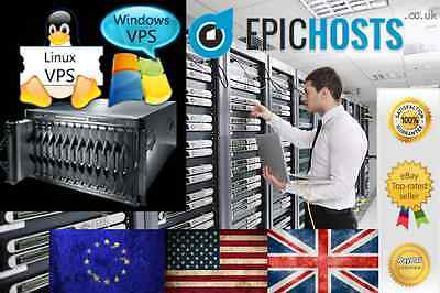 Linux VPS 8GB RAM 200GB HDD Virtual Private Server Dedicated VDS Debian Ubuntu +