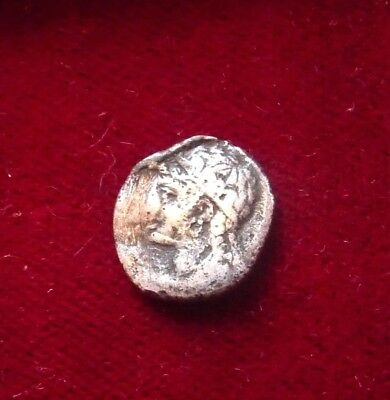 CILICIA Uncertain Satrap AR Obol 4th cent BC. Satrapal head facing Rare