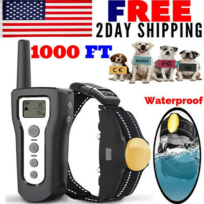 Waterproof Dog Shock Training E Collar Rechargeable Electric Remote Control Gift