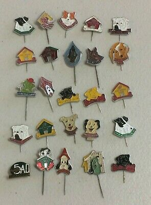 INSTANT COLLECTION 25 Radio 5AD Yelpmates & Dog House Club Badge Pins