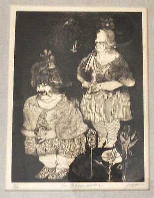"Peter PAONE listed artist ""Two Italian Women"" 2/20 print ~ Surrealist  NY/Philly"