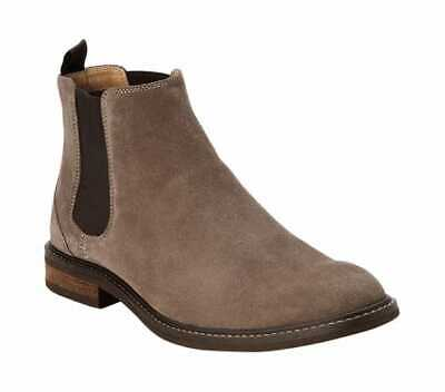 6d082cc3ff15 Vionic with Orthaheel Technology Men s Kingsley Chelsea Boot Dark Taupe  Suede