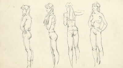 Peter Collins ARCA - c.1970s Graphite Drawing, Figure Study