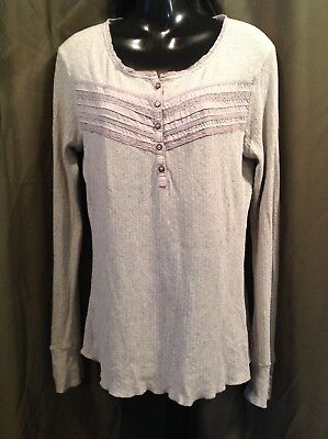 NATURAL REFLECTIONS Soft GRAY Knit Top Women's Size LARGE