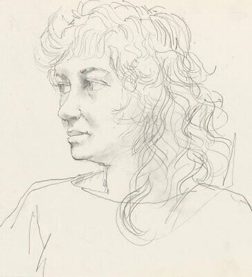 Peter Collins ARCA - c.1970s Graphite Drawing, Portrait Study