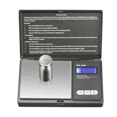 Electronic Mini Digital Gold Jewelry Weighing Pocket Scale 0.01g Weight 200 Gram