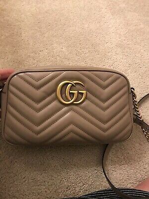 f6a8cafa6930 Gucci GG Marmont small matelassé shoulder bag $1290 Dusty Pink Nude Leather