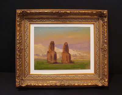 "Beautiful Ancient ""colossi Of Memnon"" Egypt 1898 Original F.c. Smith - Listed"