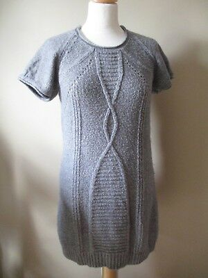 Superbe ROBE Laine Grise & Mohair CREEKS Taille 38/40