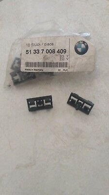 Genuine BMW X5 E53 98-06 Door Weatherstrip Moulding Clamp Black 51337008409