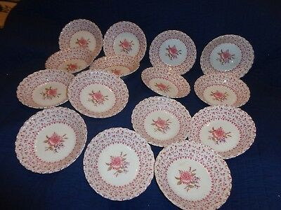 "15- SMALL DESSERT  BOWLS "" ROSE  BOUQUET "" by  JOHNSON  BROS  ENGLAND"