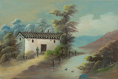 Fine Early 20th Century Gouache - Asian Landscape