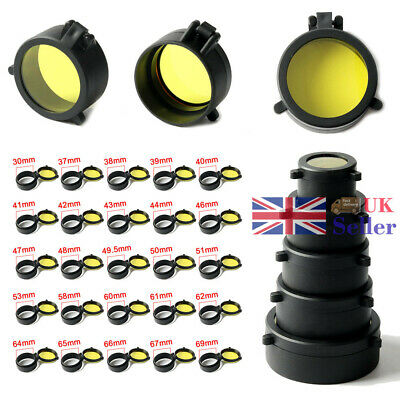 Scope Lens Caps Cover Flip Up Optics Eye Protector Lid For Airsoft Scope Caliber