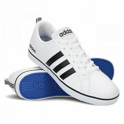 best sneakers 4a1dd 13c6a Adidas Men s NEO VS Pace Shoes AW4594 White Black Blue Sz 10,11 New