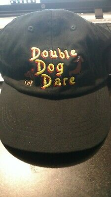 New Double Dog Hat Baseball Cap Unstructured Pet  - Black chihuahua wiener